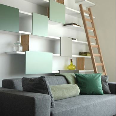 Picture of Modern Living Room Shelfs